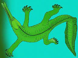 Armand Victor Lemoine reconstitue un simoedosaure à Berru